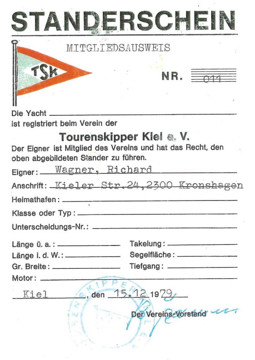 Richard Wagner Standerschein